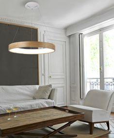 Żyrandol SILVAM 65 to piękny, drewniany klosz, który nadaje lampie naturalności i lekkości. Lampa posiada zintegrowane źródło światła LED o mocy 50W (strumień świetlny 3250lm, temperatura barwowa 3000K, barwa ciepła biała). Żyrandol sprawdzi się jako lampa wisząca nad stół. Decor, Light, Table, Ceiling Lights, Ceiling, Dining, Home Decor, Dining Bench, Furniture
