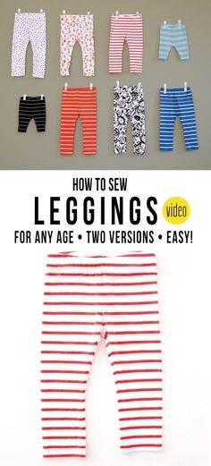 How to sew a Pair of Leggings, for any age� | MADE