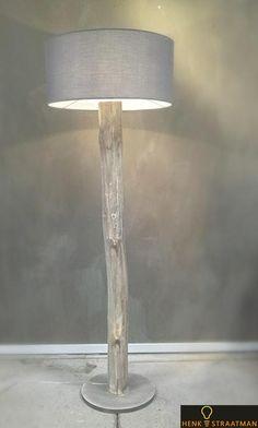 Houten vloerlamp big one   Houten Lampen