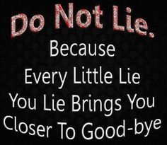 Bye Bye Liar !