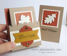October 2016 Paper Pumpkin Season of Gratitude Alternative Project Ideas by Julie Davison www.juliedavison.com
