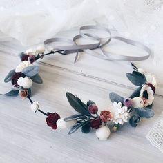 Winter Bridal crown, Winter wedding crown, Bridal flower crown,woodland hair, Boho hair wreath, Wedding crown by SERENlTY on Etsy https://www.etsy.com/listing/247034277/winter-bridal-crown-winter-wedding-crown