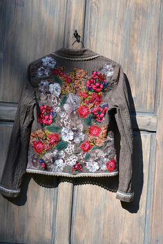 Ornate festive jacket bohemian romantic altered couture