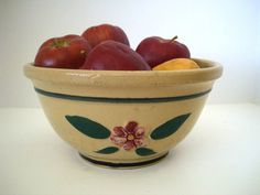 Vintage Watt Yellow ware bowl from the 1930s offered by Selective Salvage on Etsy, $40.00
