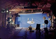 Shooting some of the original Enterprise's flight. One of my favorite behind-the-scenes images.