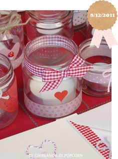 Baby Shawer, Valentines Day Decorations, Easy Crafts, Decoupage, Holiday, Christmas, Mason Jars, Mamma, Candles