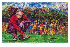 Golf School Golfer Art, Reading the Green, Limited Edition Print by Pittsburgh artist - A colorful rendition Golf Painting, Painting People, Figure Painting, Golf Art, Man Cave Wall Art, Golf Green, Green Paintings, Thing 1, My Art Studio