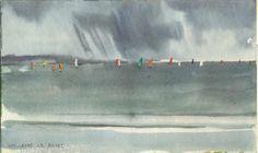 Grain en baie de La Baule. Peinture à l'aquarelle de Guillaume Le Baube…