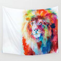 http://www.phomz.com/category/Tapestry/ Lion+Wall+Tapestry+by+Slaveika+Aladjova+-+$39.00