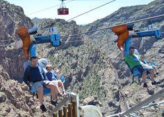 Scary Zip Line over the Royal Gorge Colorado Canon City