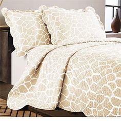 Giraffe Cotton Quilt  Bedding Set