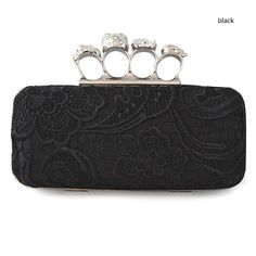 Modern Plain Silk Hollowed embellished Mini Box Clutches, Hard-Shell, Single Deck