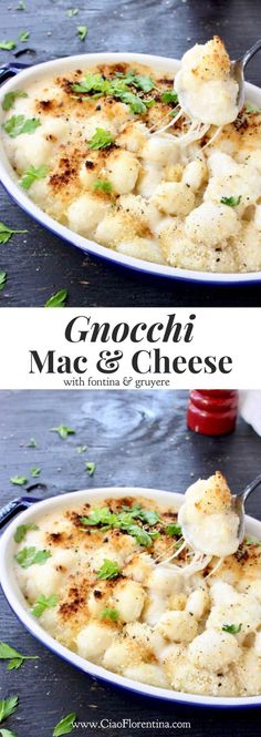 Italian Gnocchi Mac and Cheese Recipe with Fontina and Gruyere | CiaoFlorentina.com @CiaoFlorentina