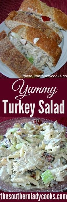 This is a great recipe for turkey salad. Easy way to use up leftover turkey and you can enjoy this for many days. I love a really