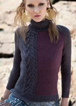 Vogue Knitting Fall 2013, #22 Raglan Sleeve Pullover by Laura Zukaite, Manos del Uruguay Serena