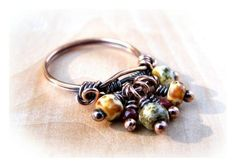 Wire Wrap Lesson Bead Dangle Ring Tutorial love it! Jewelry Show, Wire Jewelry, Pendant Jewelry, Jewelry Art, Beaded Jewelry, Jewelry Making, Jewelry Ideas, Ring Making, Jewelry Crafts
