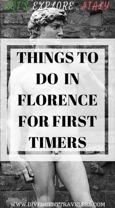 Things to do in Florence, Italy for first timers. First time visitors to Florence may have an overwhelming time researching before their travel. There's so many things that you can do and see in Florence, Italy . We have put together a 3 day Florence, Italy guide for first time travelers. Click to read. #Italy #Florence #Itinerary #Guide #Travel