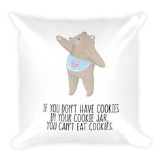 Pillow Mama Bear Cookies Couch Decor Stuffed Washable Removable Cover With Hidden Zipper. Bear Cookies, Decorative Pillows, Couch, Handmade Gifts, Etsy, Decorative Throw Pillows, Kid Craft Gifts, Decorative Bed Pillows, Settee