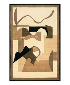 Loving this Brown Abstract Area Rug on #zulily! #zulilyfinds