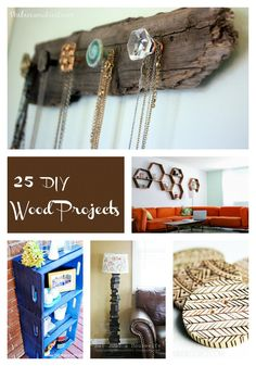 25 DIY Wood Projects at thebensonstreet.com #wood #crafts #thebensonstreet