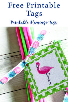 Whether you are hosting a fabulous flamingle or sharing flamingo goodies, these darling tags from Everyday Party Magazine are the perfect party printable! #FlamingoPartyPrintables #FlamingoPartySupplies