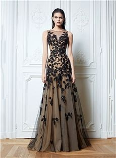 Buy New Style A-line Prom Dresses Bateau Tulle Applique Evening Gown Online, newbridalup.Com offer high quality fashionNew Style A-line Prom Dresses Bateau Tulle Applique Evening Gown,Price: US$158.79