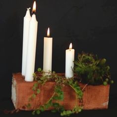 Use a brick for your candle ends and make a beautiful candlestick. Tutorial in Swedish.