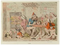 "James Gillray, ""Un petit souper, à la parisienne : – or – a Family of sans-culottes refreshing, after the fatigues of the day"" (20 September 1792)"