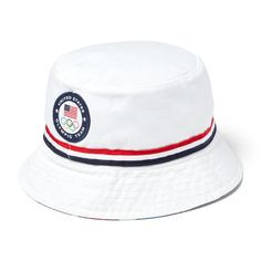 bbb0ddaf2a926 Men s Polo Ralph Lauren White Team USA 2016 Olympics Bucket Hat