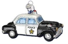 Police Car | Old World Christmas Glass Ornaments