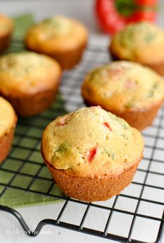 Gluten-Free Breakfast Muffins with Ham & Veggies - Allergy Free Alaska. This is a GREAT way to use up leftover ham! These muffins taste like corn bread - without the corn!