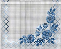 Crochet Motif, Cross Stitch Pillow, Cross Stitch Rose, Cross Stitch Borders, Cross Stitch Flowers, Cross Stitch Designs, Cross Stitch Charts, Cross Stitching, Cross Stitch Patterns