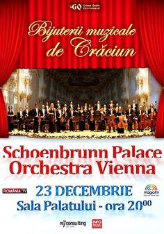 Schoenbrunn Palace Orchestra Vienna - Bijuterii muzicale de Craciun 23 Dec 2016 Dec 2016, Orchestra, Vienna, Palace, Entertainment, Musica, Palaces, Palazzo