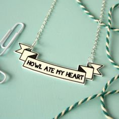 Howl Ate My Heart Necklace | 47 Insanely Adorable Studio Ghibli Items You Need Immediately