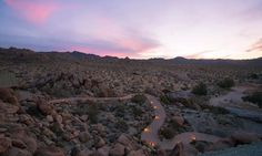 Evening view from, Beautiful Joshua Tree Supervillain Lair For Sale For First Time - Deserting - Curbed LA