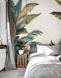 Watercolour Tropical Leaves Wallpaper Mural