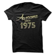 Awesome Since 1975 T Shirt For Guys & Ladies. Birthday Girl Shirts Girls Birthday Shirts Birthday Girl T Shirt. The 1975 Merchandise Uk The 1975 Clothing. #birthday #1975. http://tshirts.salalo.com/2016/03/awesome-since-1975-t-shirt-for-guys-ladies.html