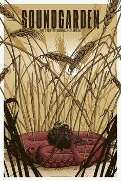 Soundgarden Atlanta Poster by Neal Williams World Premier Exclusive