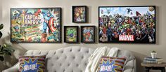 Superhero lovers, we have exactly what you need to decorate your home! Our Vintage Comic Book Collection features tons of Marvel characters in unique and interesting wall decor pieces.