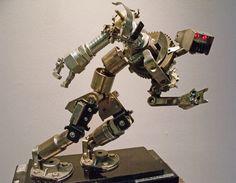 Toymaker scrap metal sculpture