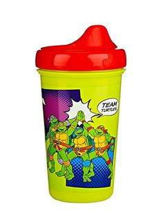 Now your kids can start their path to independent drinking with their favorite ninjas - the Teenage Mutant Ninja Turtles! The Turtles Hard Spout sippy cup by 62209 Ge Teenage Turtles, Teenage Mutant Ninja Turtles, Happy Baby, Happy Kids, Kids Dishes, Kids Clothes Boys, Baby Bottles, Baby Accessories, New Baby Products