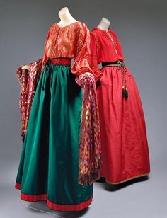Yves Saint Laurent retrospective Russian-inspired dresses from the fall-winter 1976-77
