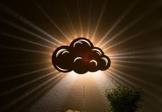 Cloud Wall Hanging Night Light Baby & Kid's by LightingBySara