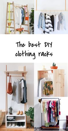 We all agree that an organized home makes life easier. Today we have a few clever ideas to build your own clothes rack. It can be useful ...