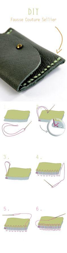 DIY tutorial saddle stitching false