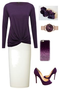 """Plum Pretty"" by coomergirl on Polyvore featuring Roland Mouret, M&Co, Christian Louboutin, Casetify and Henry London"