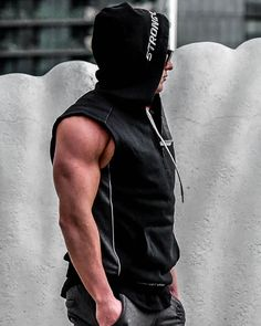 bb4123aefe338  strongliftwear Flex Compression Hoodies for men - Black.  WorkoutClothing  Ropa Gym Hombre