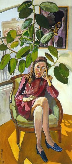 Alice Neel - Nancy and the Rubber Plant, 1975 (by BoFransson)