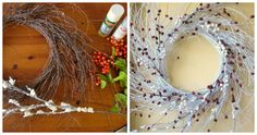 winter wispy wreath, christmas decorations, crafts, seasonal holiday decor, wreaths