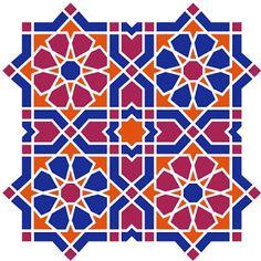 AL HAMRA contemporary art projects: Characteristics of Islamic Geometric Decoration Motifs Islamiques, Islamic Motifs, Islamic Art Pattern, Arabic Pattern, Pattern Art, Geometric Shapes Art, Geometric Drawing, Geometric Decor, Arabesque Pattern